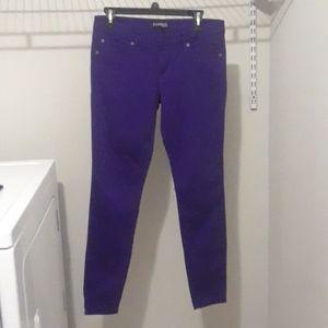 Express Grape Purple Skinny Legging Jeans